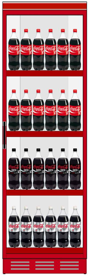 Sample planogam Coca Cola Fridge