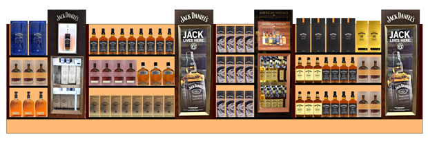 Sample planogam Display Jack Daniels