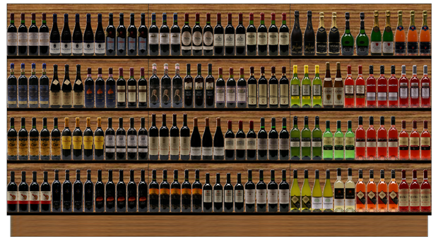 Sample planogam Wine in Wooden Section